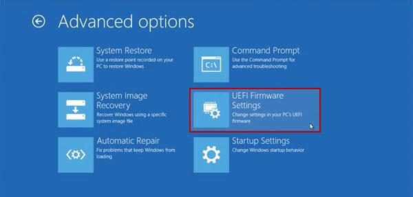 Reset Administrator password on Windows 10 tablet UEFI